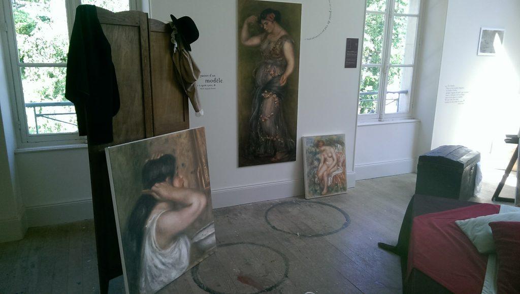 Atelier et Maison de Renoir pres de Mery sur Seine et du gite Villa sur seine